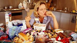 binge eating woman